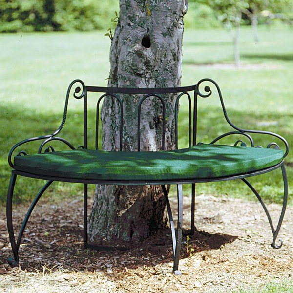 Most Up To Date Aranita Tree Of Life Iron Garden Benches Throughout Wrought Iron Tree Bench (View 8 of 20)
