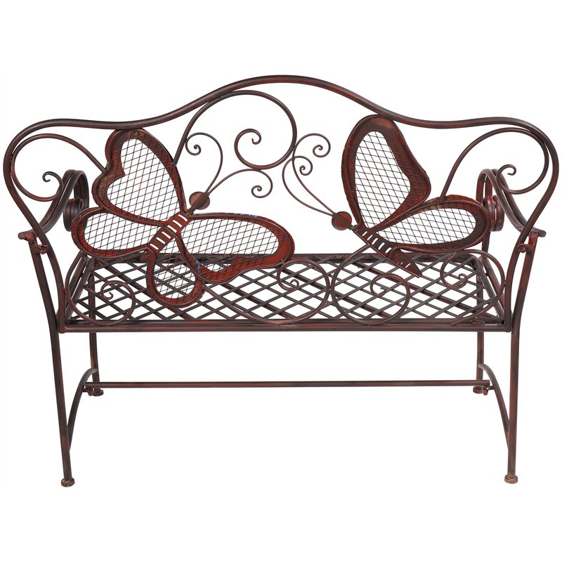 Most Up To Date Caryn Colored Butterflies Metal Garden Bench For Caryn Colored Butterflies Metal Garden Benches (View 7 of 20)