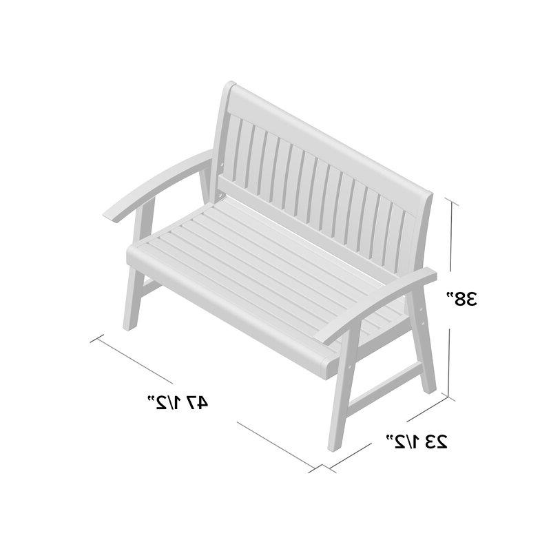 Most Up To Date Gabbert Wooden Garden Benches Intended For Gabbert Wooden Garden Bench (View 4 of 20)