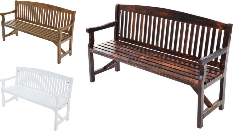 Most Up To Date Gardeon 3 Seater Wooden Garden Bench Chair Throughout Manchester Wooden Garden Benches (View 11 of 20)