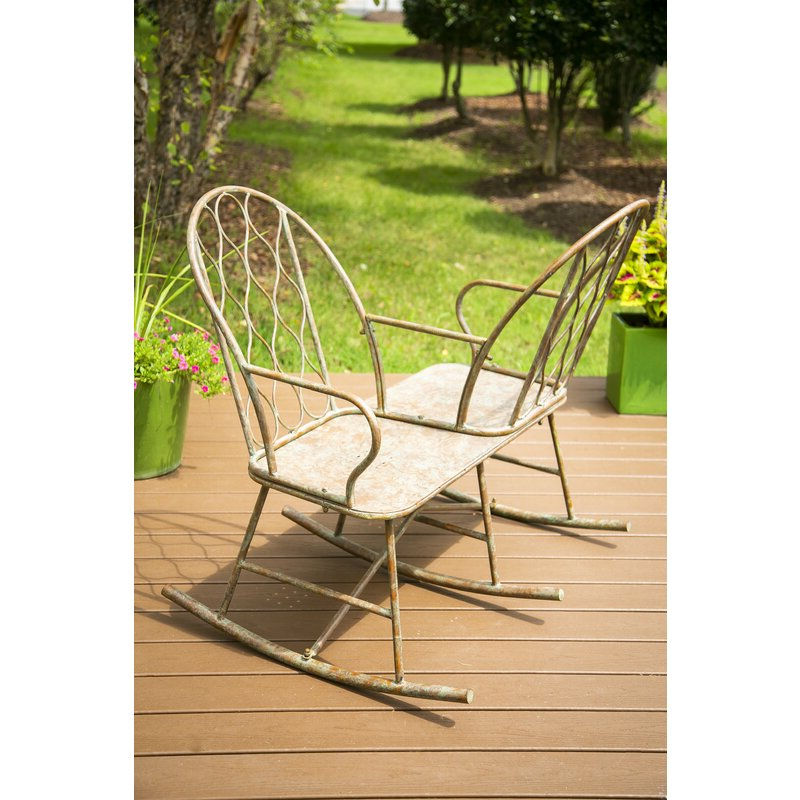 Most Up To Date Lublin Wicker Tete A Tete Benches Within Tete A Tete 2 Seat Rocking Bench (View 11 of 20)