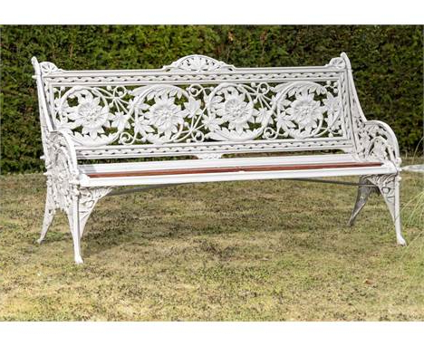 Most Up To Date Madeline Vintage Bird Cast Iron Garden Benches Intended For Garden Furniture Auctions Prices (View 20 of 20)