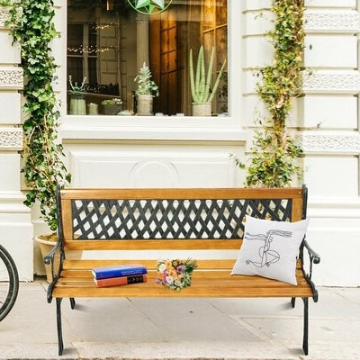 Most Up To Date Madeline Vintage Bird Cast Iron Garden Benches With Regard To Allayna Outdoor Cast Iron Park Bench (View 11 of 20)