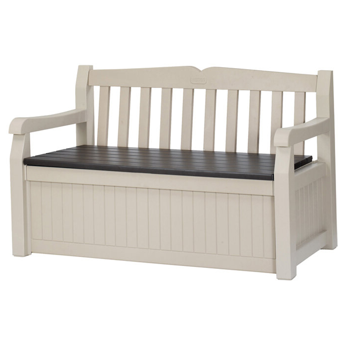Most Up To Date Strasburg Blossoming Decorative Iron Garden Benches Pertaining To Keter Eden Plastic Storage Bench (View 15 of 20)