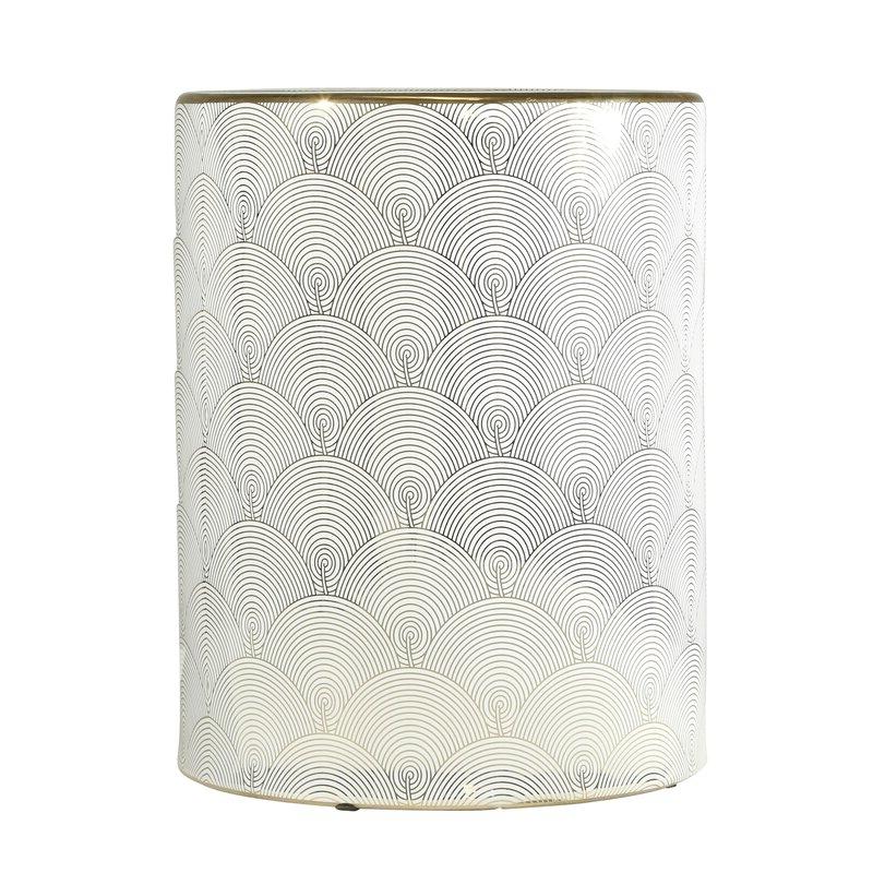 Newest Belvedere Ceramic Fan Design Garden Stool With Regard To Irwin Blossom Garden Stools (View 12 of 20)