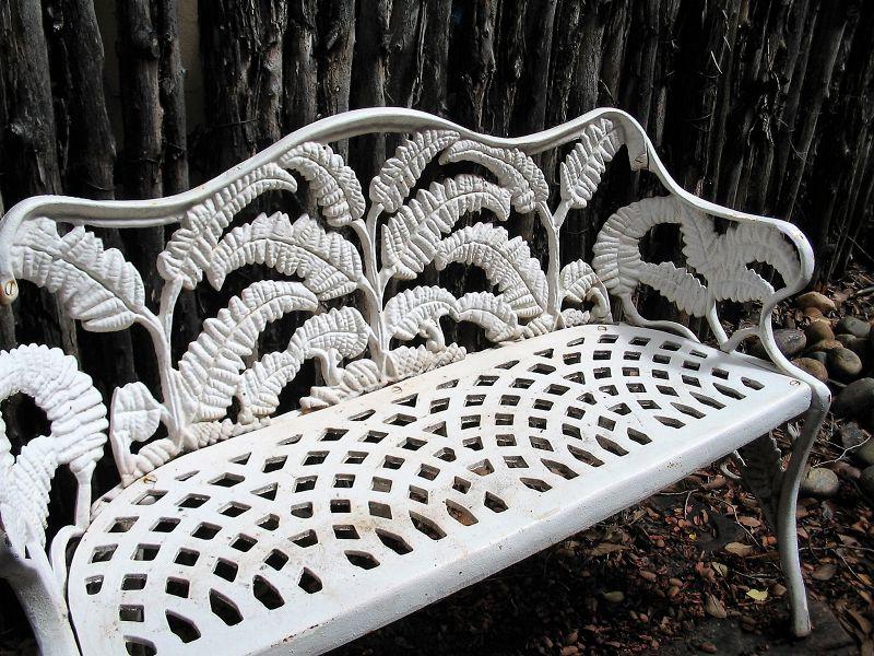 Newest Early Cast Iron Fern Pattern Garden Bench With Montezuma Cast Aluminum Garden Benches (View 16 of 20)
