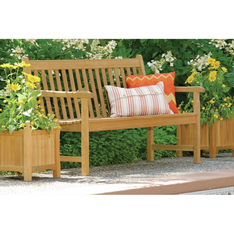 Newest Harpersfield Wooden Garden Benches Intended For Harpersfield 3 Piece Wooden Planter Bench Set (View 6 of 20)