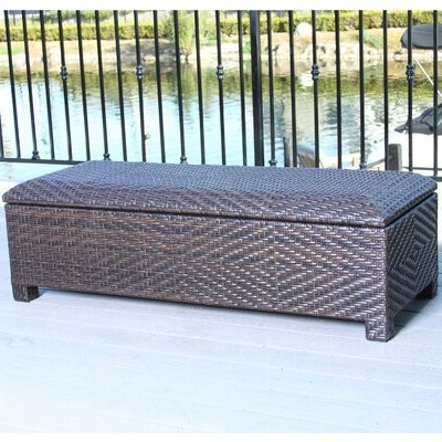 Newest Lublin Wicker Tete A Tete Benches Within Dedman Wicker Storage Bench (View 15 of 20)