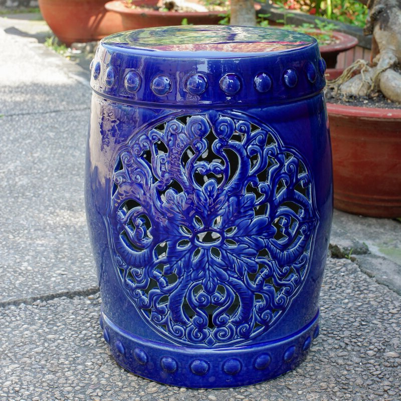 Nieto Ceramic Garden Stool Intended For Preferred Lavin Ceramic Garden Stools (View 13 of 20)