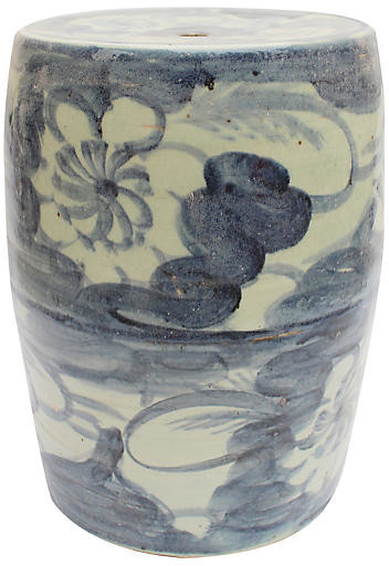 Nola Garden Stool – Blue/white Regarding Current Wiese Cherry Blossom Ceramic Garden Stools (View 12 of 20)