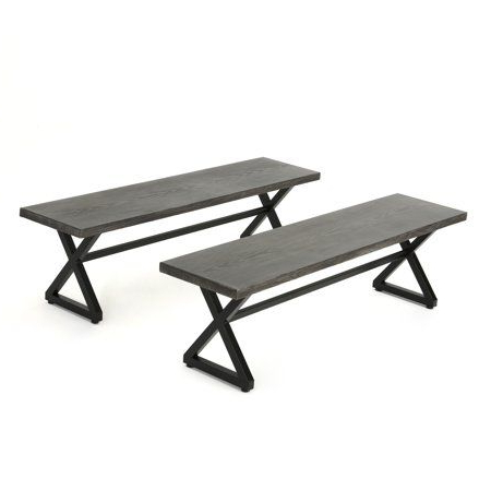 Ossu Iron Picnic Benches Pertaining To Widely Used Pedrick Two Seat Wooden Picnic Bench – Vozeli (View 14 of 20)