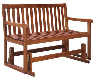 Ousley Swing Wooden Garden Bench Intended For Most Current Sibbi Glider Benches (View 11 of 20)