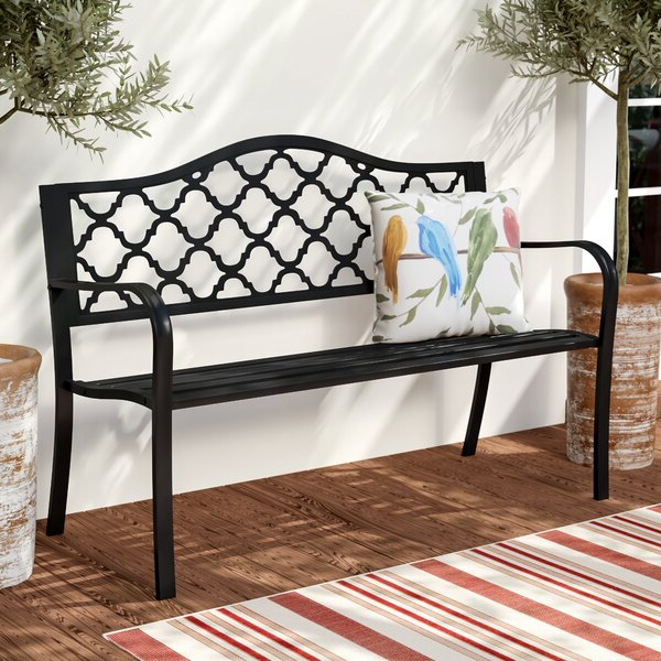 Outdoor Iron Benches (Gallery 5 of 20)