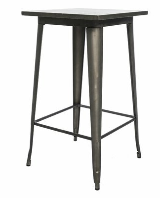 Pettit Steel Garden Benches Regarding Most Up To Date Amir Metal Bar Table Color: Antique Rustic (View 18 of 20)