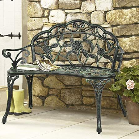 Pin On Best Charcoal Grill Reviews Throughout Favorite Montezuma Cast Aluminum Garden Benches (View 15 of 20)