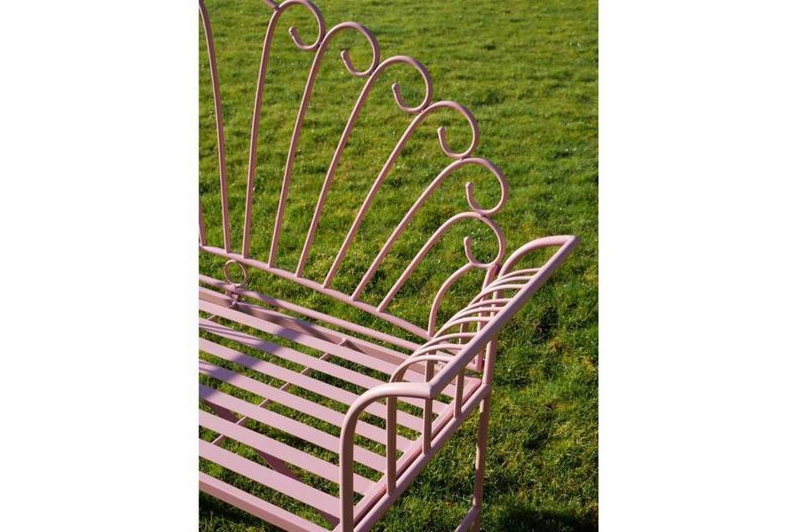 Pink Metal Flamingo Garden Bench For Popular Flamingo Metal Garden Benches (View 6 of 20)
