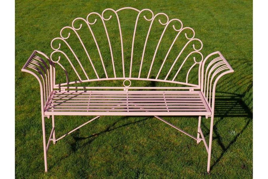 Pink Metal Flamingo Garden Bench Regarding Well Known Flamingo Metal Garden Benches (View 5 of 20)