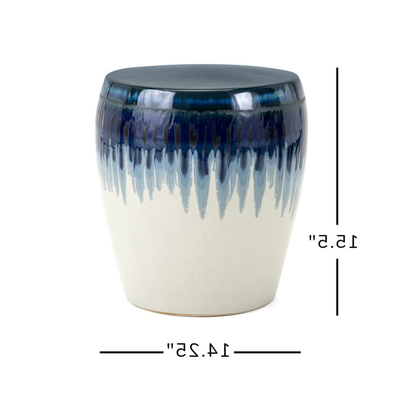 Pooler Ceramic Garden Stool Intended For Most Up To Date Aloysius Ceramic Garden Stools (View 11 of 20)