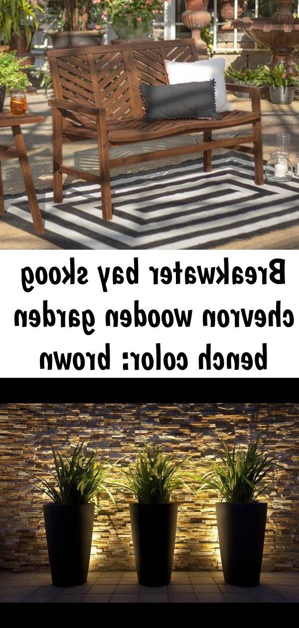 Popular Breakwater Bay Skoog Chevron Wooden Garden Bench Color With Skoog Chevron Wooden Garden Benches (View 10 of 20)
