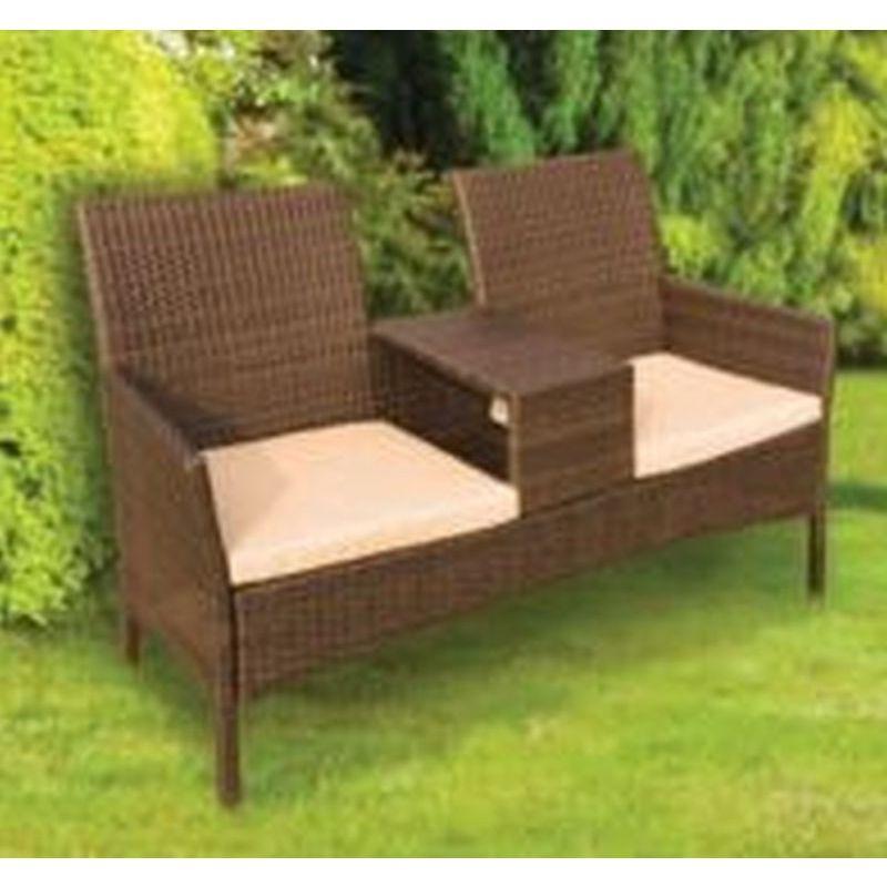 Popular Wicker Tete A Tete Benches In Buy Wicker Tete A Tete Garden Seat – Online At Cherry Lane (View 8 of 20)