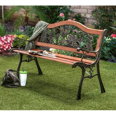 Preferred Blooming Iron Garden Bench (View 9 of 20)