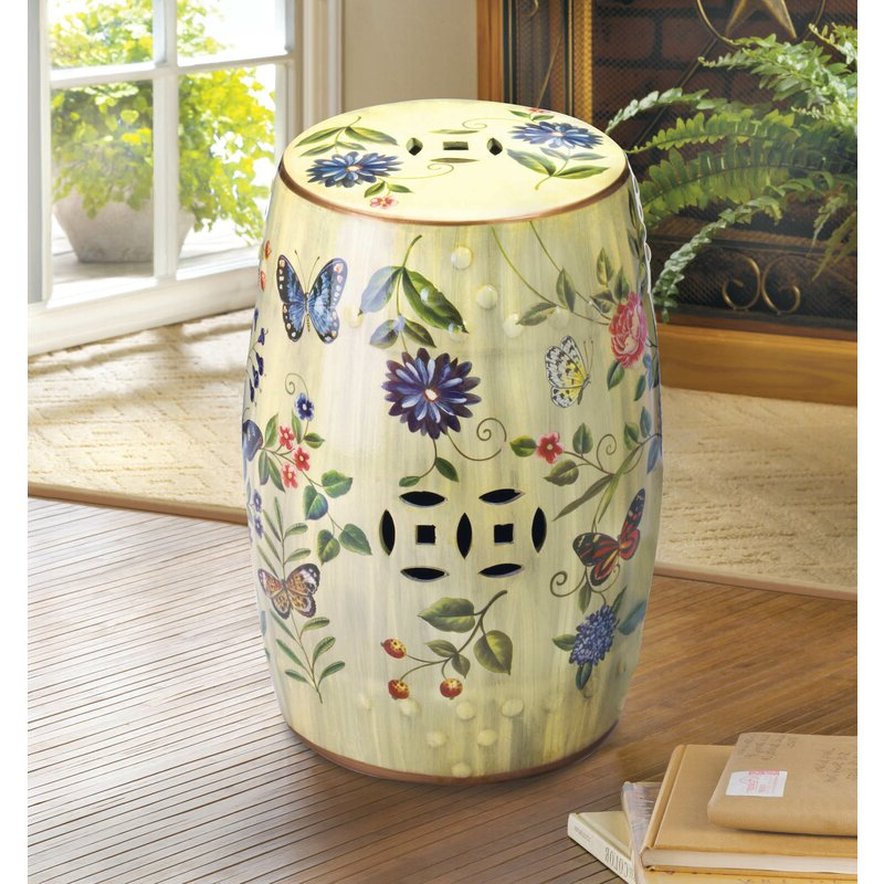 Preferred Janke Floral Garden Stools Within Brinley Garden Ceramic Stool (View 8 of 20)
