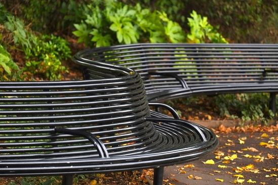 Preferred Pauls Steel Garden Benches With Curved Street Furniture For Alexandra Park, Windsor (View 16 of 20)