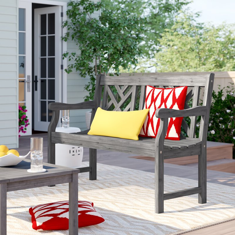 Preferred Shelbie Wooden Garden Benches With Shelbie Wooden Garden Bench (View 4 of 20)