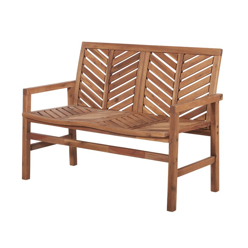 Preferred Skoog Chevron Wooden Garden Benches Throughout Skoog Chevron Wooden Garden Bench (View 2 of 20)