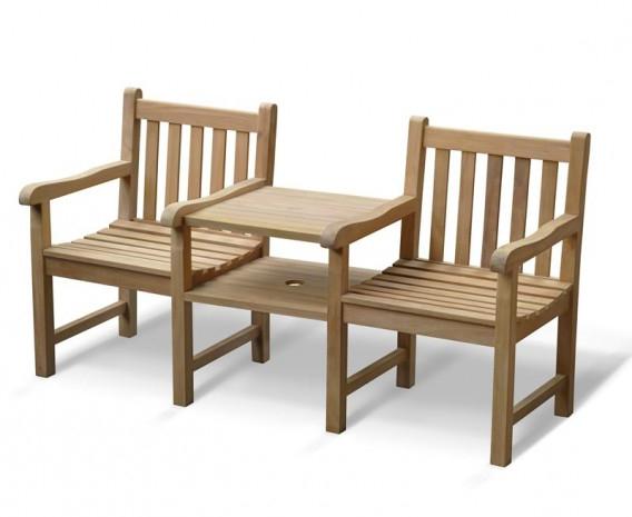 Preferred Windsor Vista Teak Garden Companion Seat For Wicker Tete A Tete Benches (View 9 of 20)