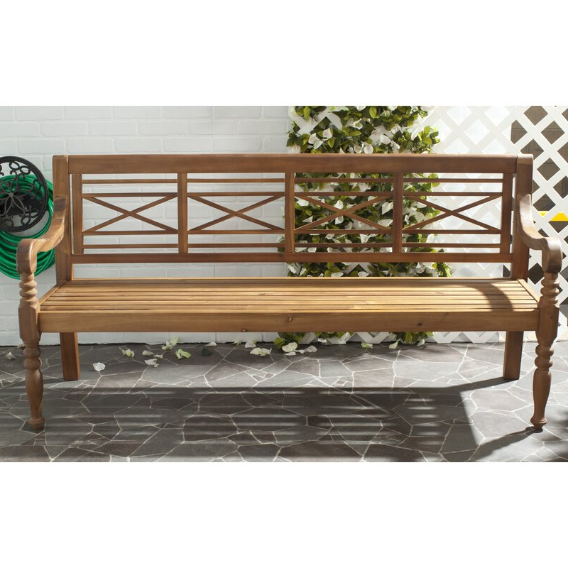 Putnam Wooden Garden Bench Pertaining To Current Maliyah Wooden Garden Benches (View 17 of 20)