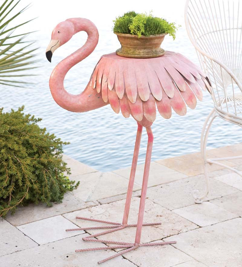 Recent Flamingo Metal Garden Benches In Handcrafted Pink Flamingo Side Table In Outdoor Furniture (View 7 of 20)