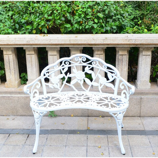 Recent Front Porch Outdoor Bench For Zev Blue Fish Metal Garden Benches (View 8 of 20)