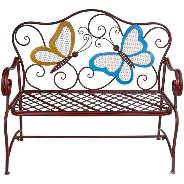 Recent Red Butterfly Outdoor Bench (View 14 of 20)