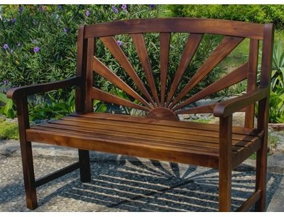 Rothstein Outdoor Wood Garden Bench Inside Well Liked Amabel Patio Diamond Wooden Garden Benches (View 15 of 20)