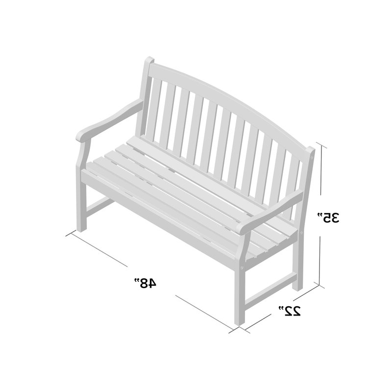Shelbie Wooden Garden Bench Regarding Most Recently Released Shelbie Wooden Garden Benches (View 3 of 20)