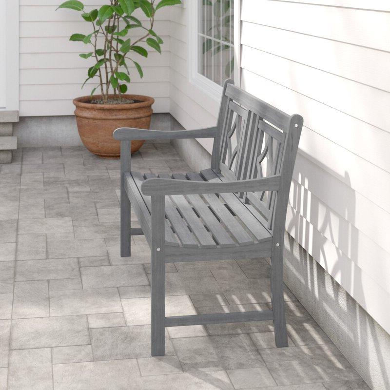 Shelbie Wooden Garden Benches In Trendy Shelbie Patio Diamond Wooden Garden Bench (View 13 of 20)