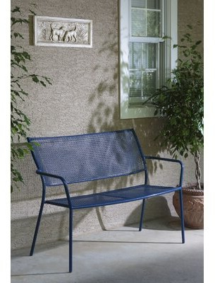 Shop The World's Largest Collection Of Fashion In Best And Newest Zev Blue Fish Metal Garden Benches (View 16 of 20)