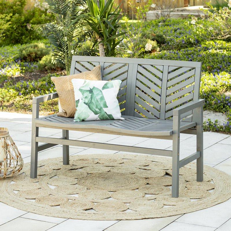 Skoog Chevron Wooden Garden Bench Intended For 2020 Skoog Chevron Wooden Garden Benches (View 7 of 20)
