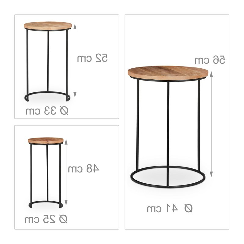 Standwood Metal Garden Stools Pertaining To Newest Stanwood 3 Piece Nesting Tables (View 16 of 20)