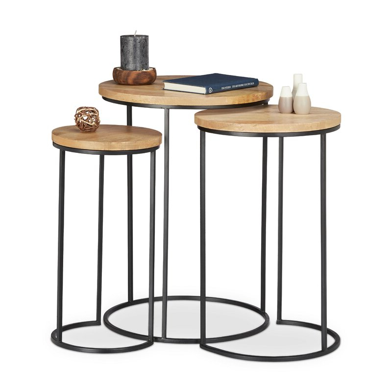 Standwood Metal Garden Stools With Regard To 2020 Stanwood 3 Piece Nesting Tables (View 6 of 20)