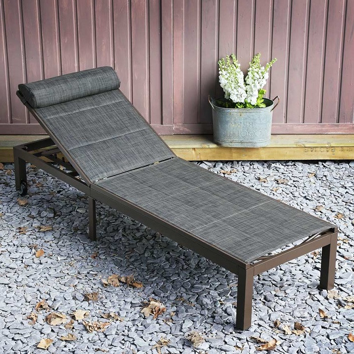 The Michelle Outdoor Garden Sun Lounger In Brown (View 13 of 20)
