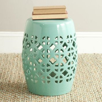 Tillia Ceramic Garden Stools With Widely Used Tillia Ceramic Lattice Garden Stool – Wayfair (View 12 of 20)