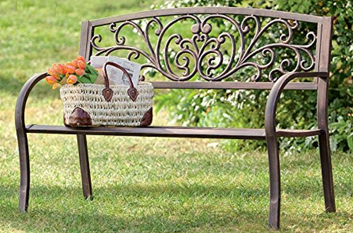 Top 10 Best Outdoor Garden Benches With Metal Frame Reviews Throughout Best And Newest Blooming Iron Garden Benches (View 17 of 20)