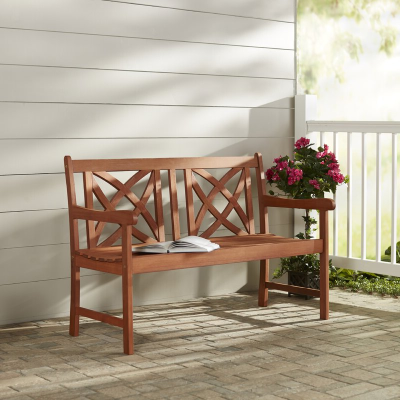 Trendy Maliyah Wooden Garden Bench Regarding Avoca Wood Garden Benches (View 16 of 20)