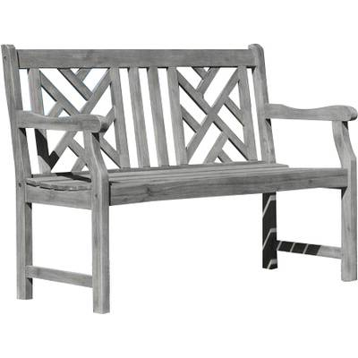 Trendy Shelbie 4 Piece Dining Set In Shelbie Wooden Garden Benches (View 17 of 20)