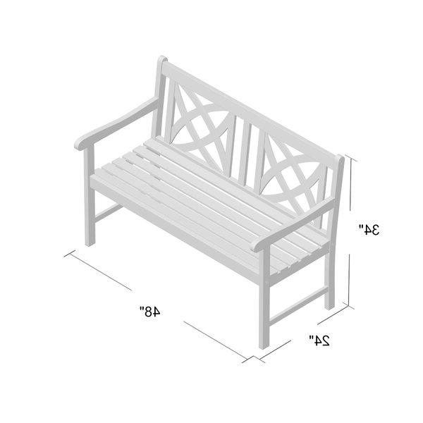 Trendy Shelbie Garden Bench In Ismenia Checkered Outdoor Cast Aluminum Patio Garden Benches (View 9 of 20)