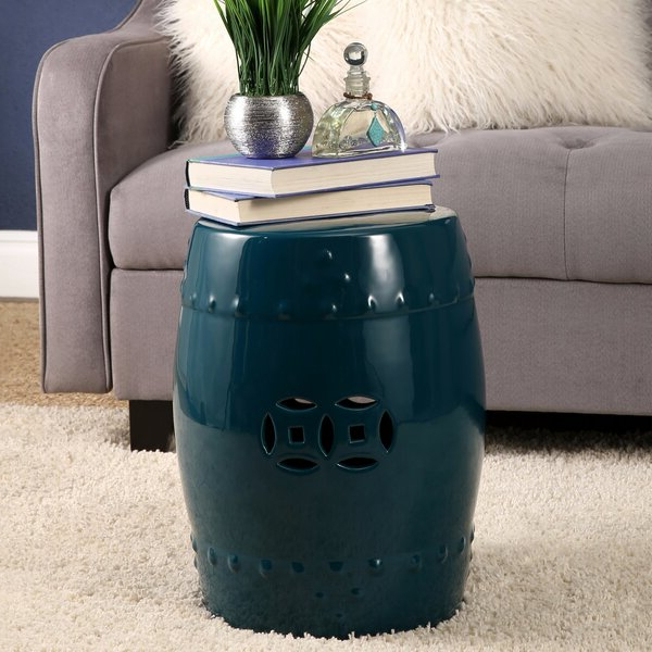 Turquoise Ceramic Garden Stool For Fashionable Brode Ceramic Garden Stools (View 15 of 20)