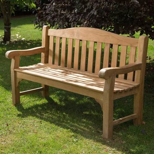 Ultra Luxury Grade A Teak Garden Bench 3 Seater 150cm For Latest Hampstead Teak Garden Benches (View 12 of 20)