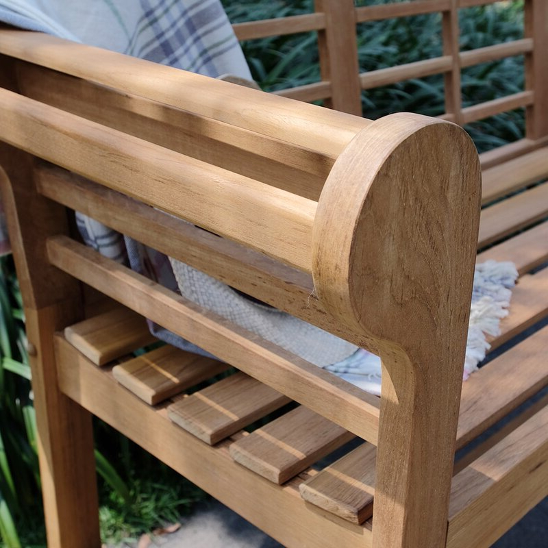 Wallie Teak Garden Bench For Well Known Wallie Teak Garden Benches (View 5 of 20)